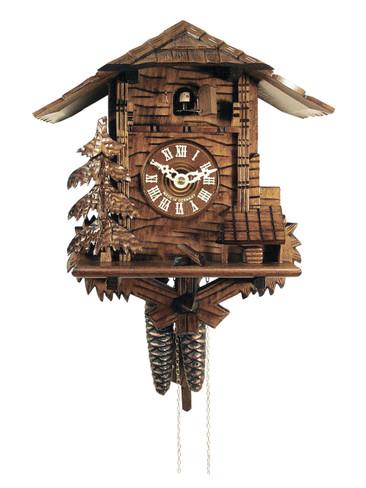 437HV-BFG Carved Roof Chalet 1 Day Cuckoo Clock