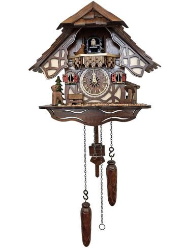 416QM Quartz Chalet with Deer Musical Cuckoo Clock