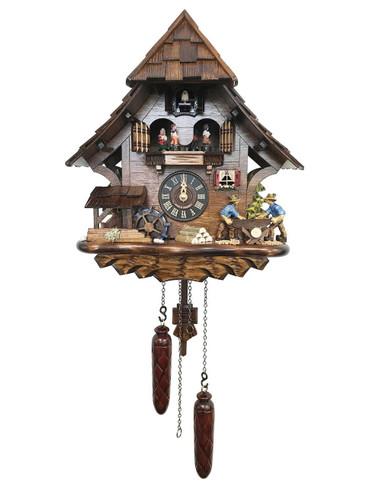 4927QMT Quartz Wood Sawers Musical Cuckoo Clock