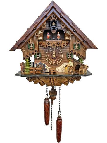 4681QMT Quartz Wood Chopper Musical Cuckoo Clock