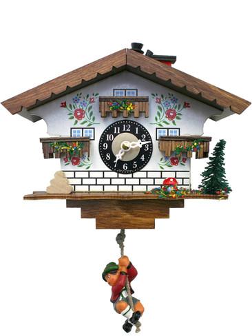 18320SQ Quartz Swinging Boy Chimney Sweep Miniature Clock