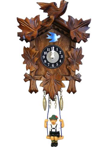126SQ Quartz Carved Swinging Boy Miniature Clock