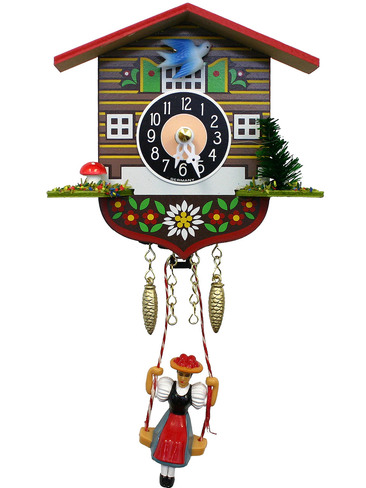 129SQ Quartz Swinging Lady Miniature Clock