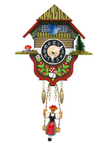 166 SQ Quartz Swinging Lady Miniature Clock