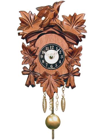 0125-1QP Quartz Carved with Sound Miniature Clock