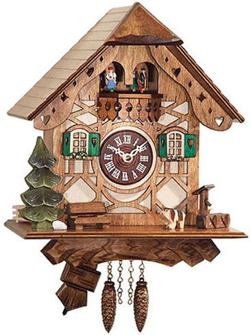 0188QPT Chalet Quartz Dancers with Sound Miniature Clock