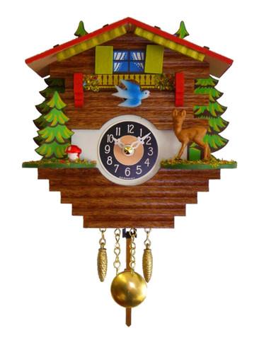 0196QP Quartz Pendulum with Sound Miniature Clock