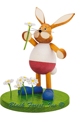 224-760 Easter Rabbit Picking Flowers from Germany
