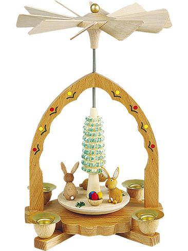 16410 Easter Bunnies Carousel Scene German Pyramid