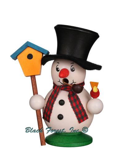 1-016 Ulbricht Incense Burner Snowman with Bird Smoker