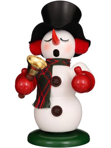 1-073 Ulbricht Incense Burner Snowman with Bell Smoker