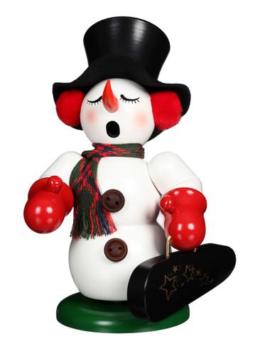 1-074 Ulbricht Incense Burner Snowman with Violin Smoker