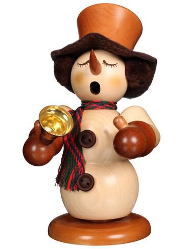 1-075 Ulbricht Incense Burner Natural Snowman with Bell Smoker