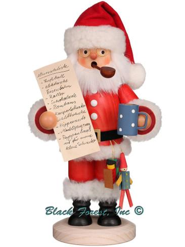 35-340 Santa with Wish List Incense Burner Christian Ulbricht Smoker