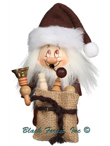 35-762 Natural Santa with Bell Dwarf Incense Burner Christian Ulbricht Smoker