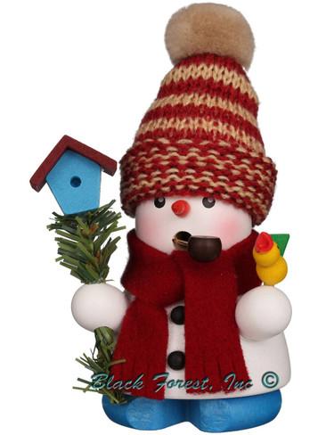 1-654 Snowman with Birdhouse Incense Burner Christian Ulbricht Smoker