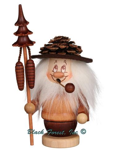 35-223 Dwarf Pinecone Man Incense Burner Christian Ulbricht Smoker
