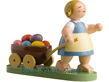 5240-7 Wendt and Kuhn Girl with Wagon and Easter Eggs