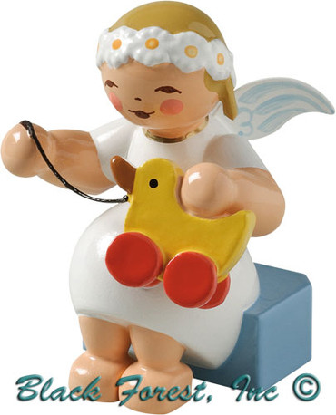 634-70-30 Wendt and Kuhn Marguerite Angel Sitting with Toy Duck