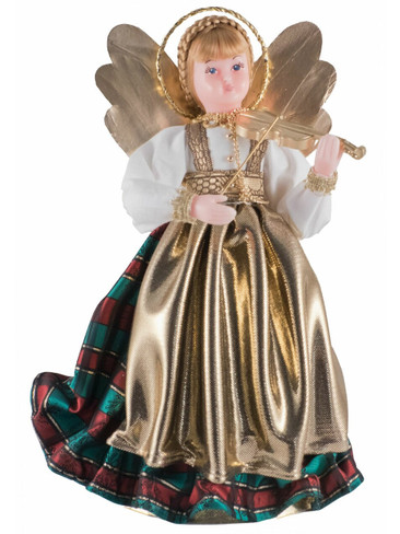 308-III-GR Bavarian Tree Topper Wax Angel