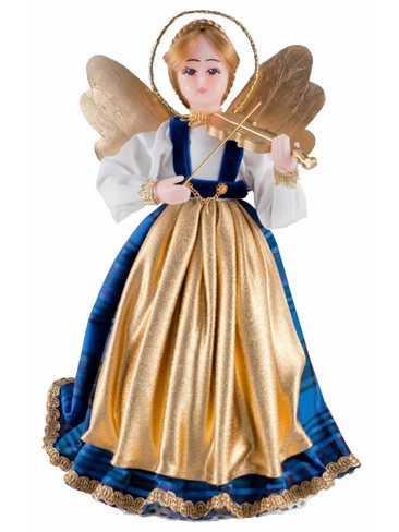 308-III-B Bavarian Tree Topper Wax Angel