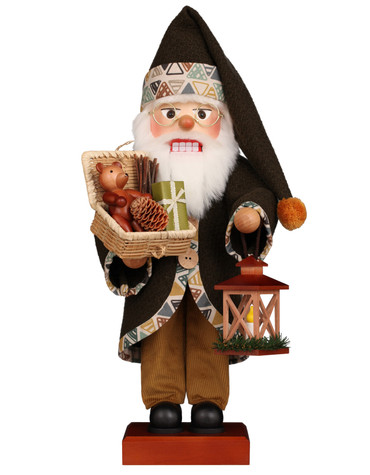 0-848 Ulbricht Green Santa with Gifts Nutcracker