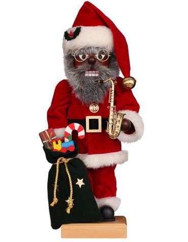0-851 Ulbricht Jazz Santa with Saxophone Nutcracker
