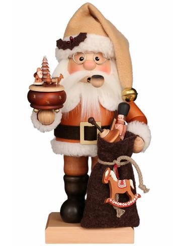 1-200 Ulbricht Incense Burner Natural Santa with Music Box Smoker