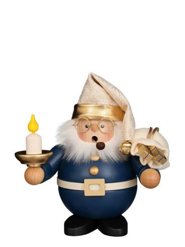 1-483 Ulbricht Incense Burner Blue Santa with Candle Smoker