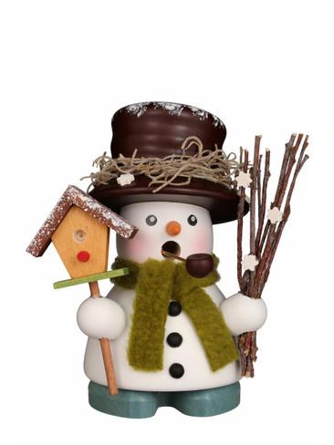 1-689 Ulbricht Incense Burner Mini Snowman with Birdhouse Smoker