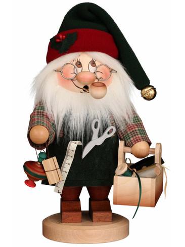 1-817 Ulbricht Incense Burner Dwarf Santa with Tools Smoker