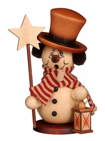 35-861 Ulbricht Incense Snowman with Star and Lantern Smoker
