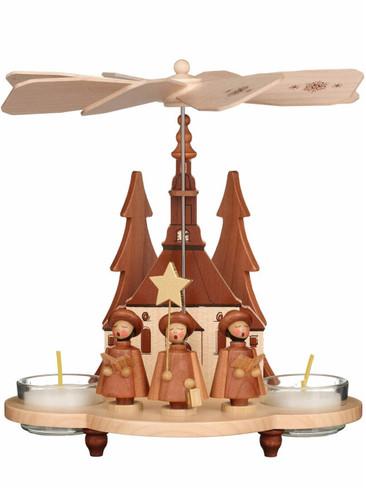 33-210 Carolers Natural Ulbricht Tea Light German Pyramid