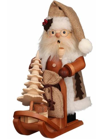 1-170 Ulbricht Incense Burner Natural Santa on Sleigh Smoker