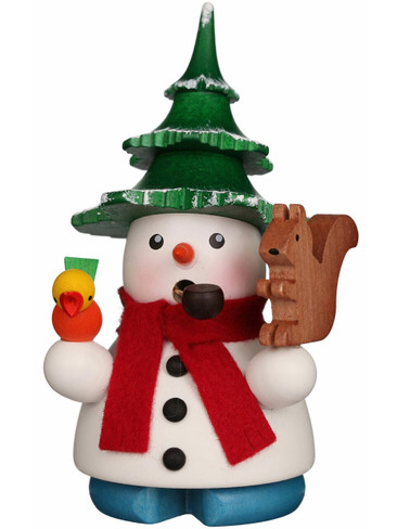 1-681 Ulbricht Incense Burner Snowman with Tree Hat Smoker
