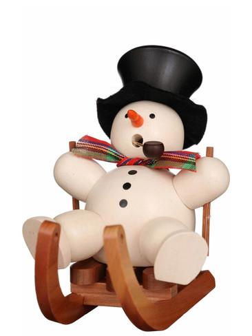 35-420 Ulbricht Incense Burner Snowman on Sled Smoker