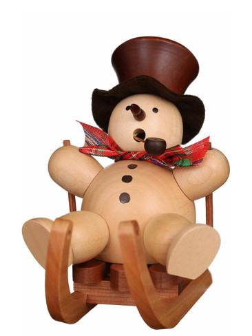 35-450 Ulbricht Incense Burner Natural Snowman on Sled Smoker