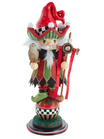 HA0579 Red and Green Wizard Hollywood Nutcracker