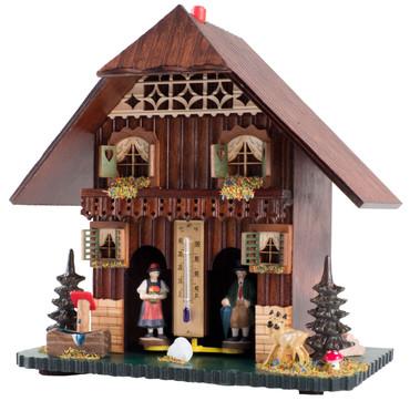 828 Large Wood German Weather House