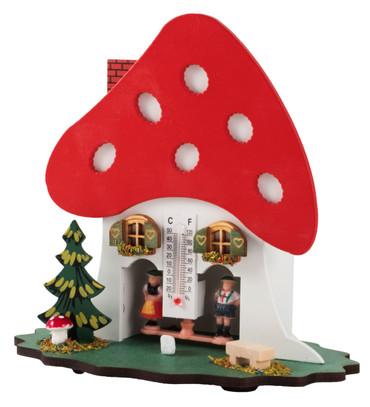 806 Mushroom Wood German Weather House
