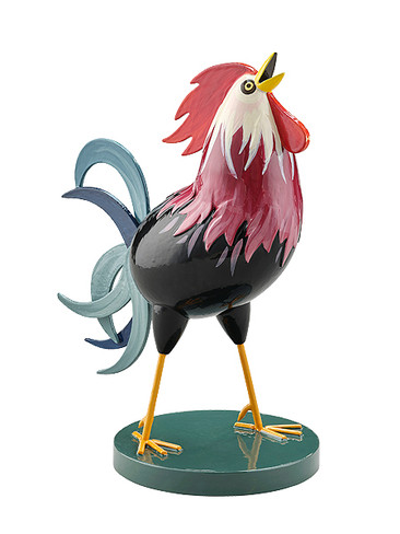 5259-1 Cockerel Burgundy Black Rooster from Wendt and Kuhn
