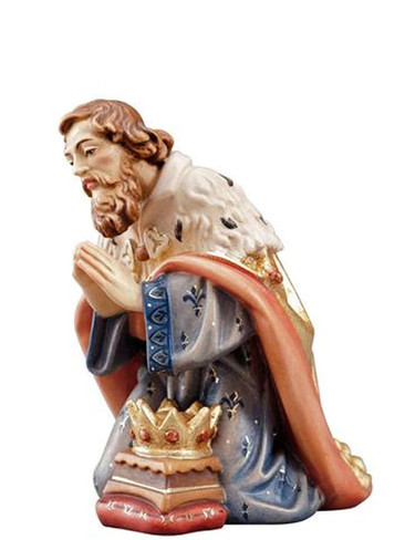 801008 Kneeling King Painted Kostner Nativity from Italy