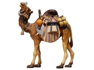 801171 Camel with Pack Painted Kostner Nativity from Italy