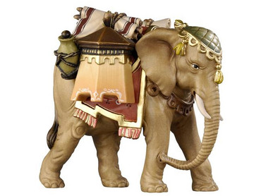 801180 Elephant with Pack Painted Kostner Nativity from Italy