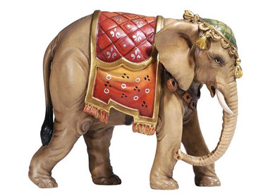 801181 Elephant Painted Kostner Nativity from Italy