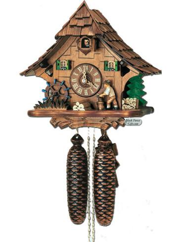 8T314-9 Anton Schneider 8 Day Wood Chopper Cuckoo Clock