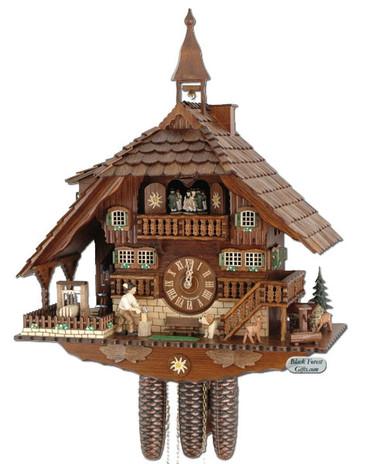 8TMT1071-9 Anton Schneider 8 Day Farmhouse Cuckoo Clock