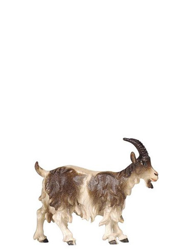 801192 goat with Head up Real Wood Painted Kostner Nativity from Pema in Italy