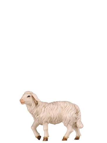801259 Sheep Standing Real Wood Painted Kostner Nativity from Pema in Italy