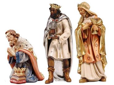 801511 Three Kings Painted Kostner Nativity from Italy